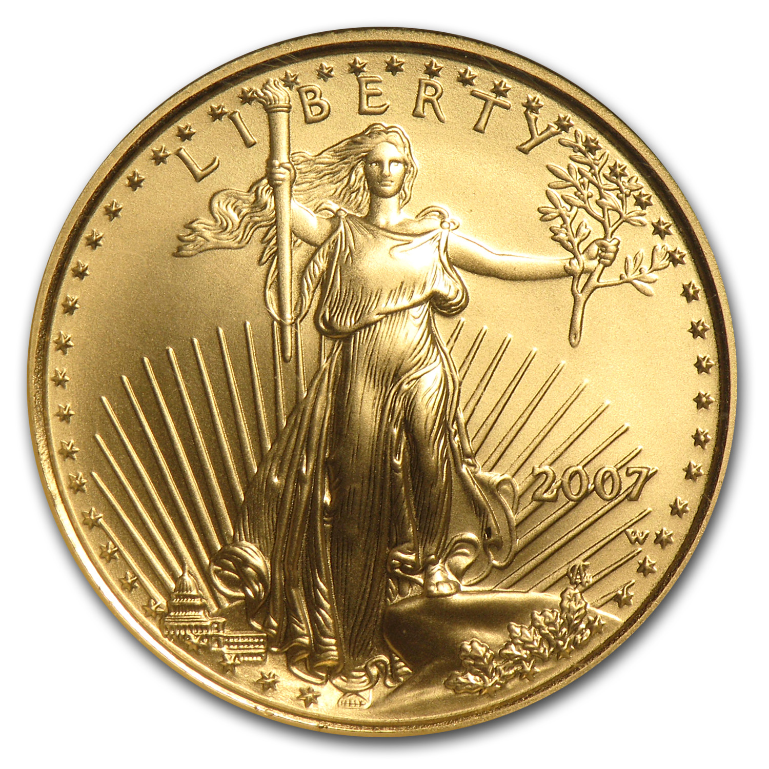 2007-W 1/4 oz Burnished Gold American Eagle MS-69 NGC